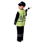 """Карнавальный костюм """"Полицейский ДПС"""", куртка, брюки, кепка, жезл, р-р 30-32, рост 116-122 см - фото 105520731"""
