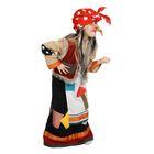 """Детский карнавальный костюм """"Баба-яга"""", рубаха, юбка с фартуком, безрукавка с горбом, нос, платок, р-р 34-36, рост 134-140 см"""