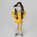 """Детский карнавальный костюм """"Дедушка Домовой"""", рубаха с жилетом, штаны, ушанка, борода, р-р 32-34, рост 128-134 см"""
