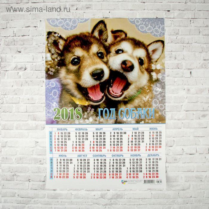"""Календарь листовой """"Символ года 2018-2"""" размер А3, 29х42см"""