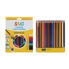 Карандаши акварельные 24 цвета Sivo Colorjoy шестигранные + ПОДАРОК: кисть, точилка, SV-6010C/24