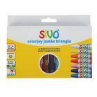 Пастель масляная детская 12 цветов Sivo Jumbo Tri 11/100 мм, треугольный корпус