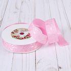 "Лента декоративная ""Бант"", 25мм, 23±1м, №1, цвет розовый"