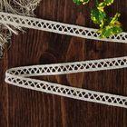 Кружево вязаное, 11мм, 15±1м, цвет бежевый