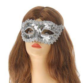 Карнавальная маска «Венеция», цвет серебряный