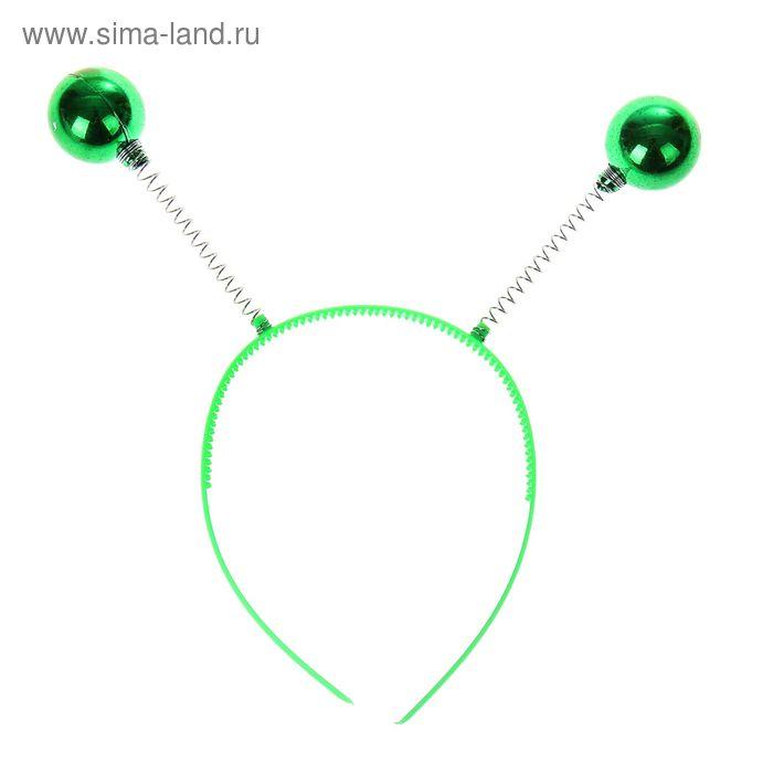 """Карнавальный ободок """"Шарики"""", цвет зеленый"""