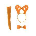 "Carnival set ""Moose"" set of 3 items: headband, tail, bow tie"