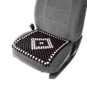This car seat massager, seat, wood, color black and white 42x42 cm.