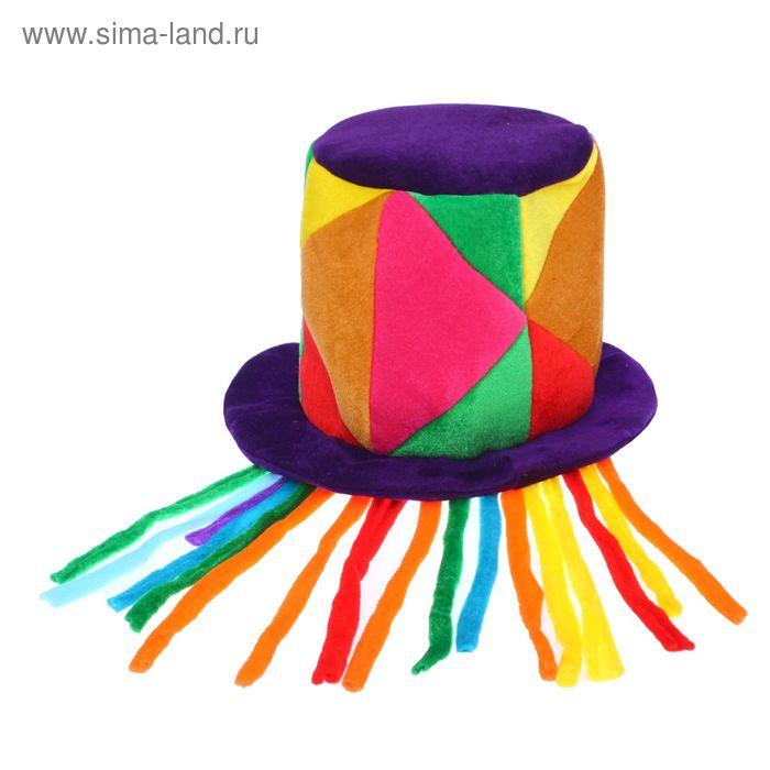 """Карнавальная шляпа """"Цветные лоскуты"""""""