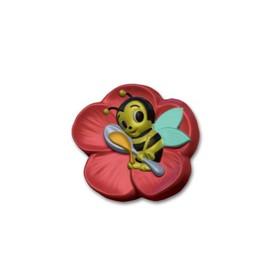 """Пластиковая форма для мыла """"Веселая пчелка"""" d=7 см"""