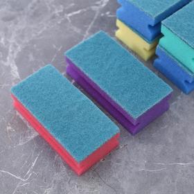 """Губка для посуды 12×6×4 см """"Генеральная уборка"""", 6 шт - фото 1709561"""