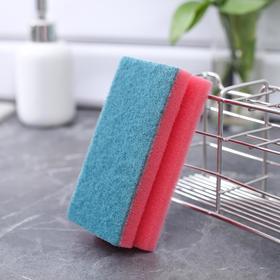 """Губка для посуды 12×6×4 см """"Генеральная уборка"""", 6 шт - фото 2898432"""