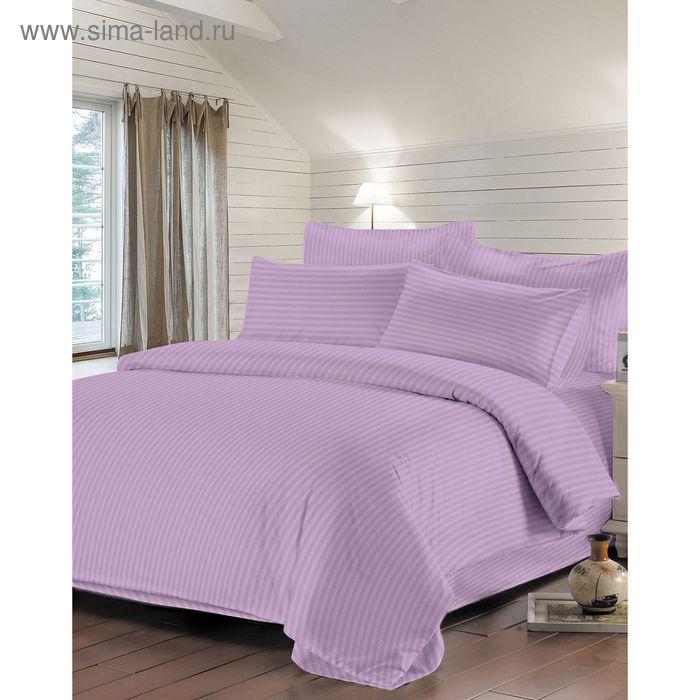 Простыня Евро 200х220см, цв. фиолетовый, сатин-страйп 130г/м хл.100%