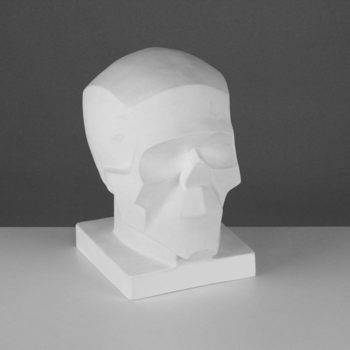 Гипсовая фигура Череп обобщённых плоскостей 16*17*22 см 10-115