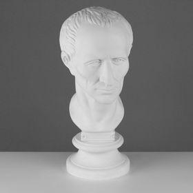 """Gypsum figure, Caesar's head """"Ecorsche Workshop"""", 20 x 27 x 52 cm."""