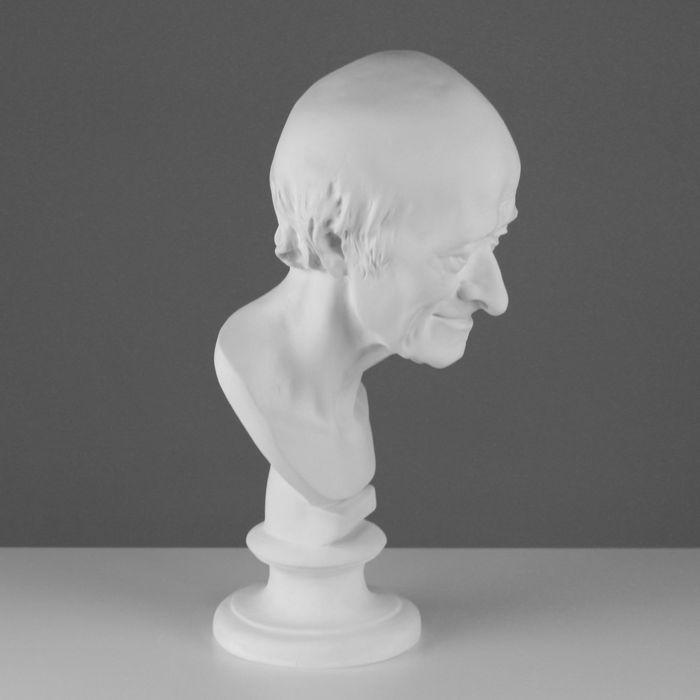 Гипсовая фигура, голова Вольтера, 20 х 26 х 48 см