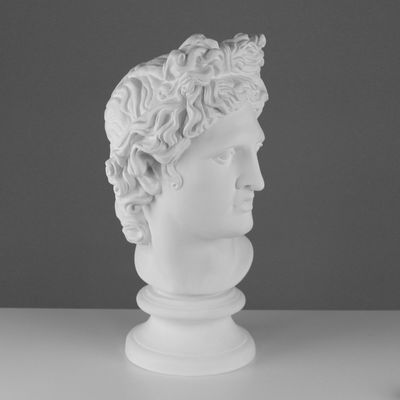 Гипсовая фигура, голова Аполлона Бельведерского, 25 х 29 х 60 см