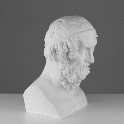Гипсовая фигура, бюст Гомера «Мастерская Экорше», 27,5 х 30 х 44 см
