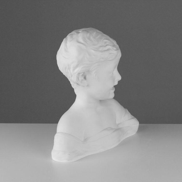 Гипсовая фигура, Бюст Смеющийся мальчик «Мастерская Экорше», 29.5х17х33 см