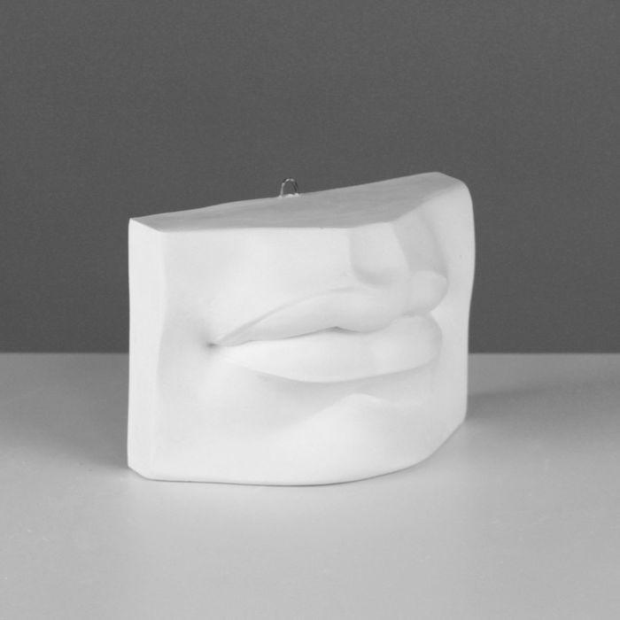 Гипсовая фигура, губы Давида «Мастерская Экорше», 17 х 8 х 12 см