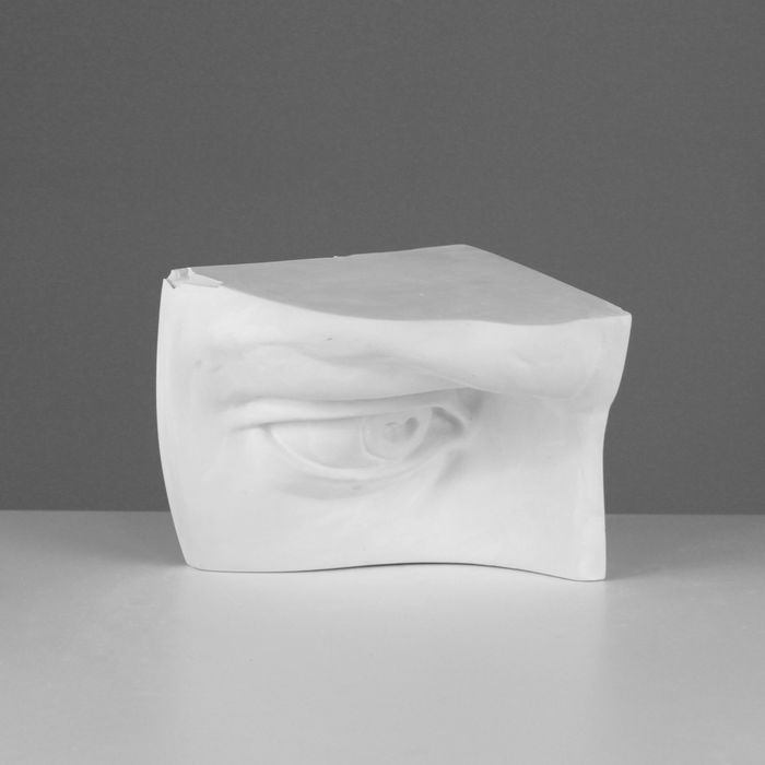 Гипсовая фигура, глаз Давида правый «Мастерская Экорше», 18 х 16 х 5 х 16 см