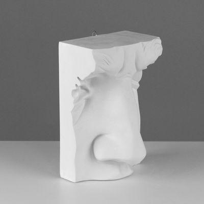 Гипсовая фигура, нос Давида «Мастерская Экорше», 18 х 15 х 29 см