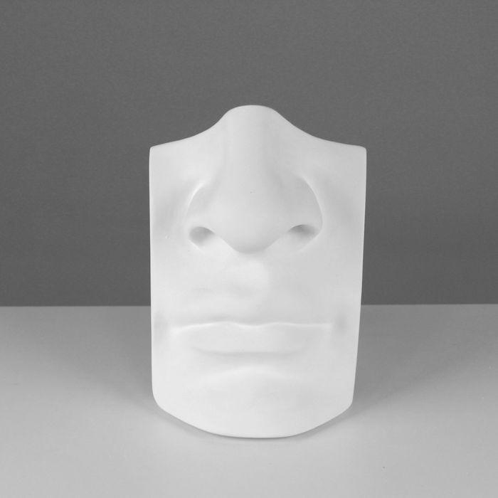 Гипсовая фигура, нос с губами Давида «Мастерская Экорше», 16 х 11 х 25 см