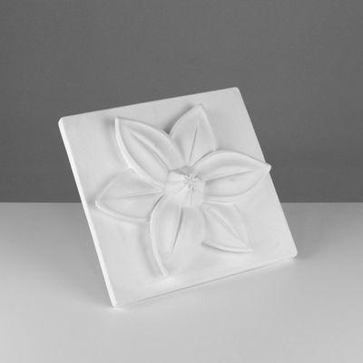 Гипсовая фигура, Орнамент Шестилистник, Цветок лотоса, 31х32х6 см