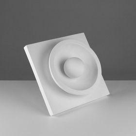 Гипсовая фигура. Орнамент «Шар в полусфере», 30.5 х 30.5 х 11 см