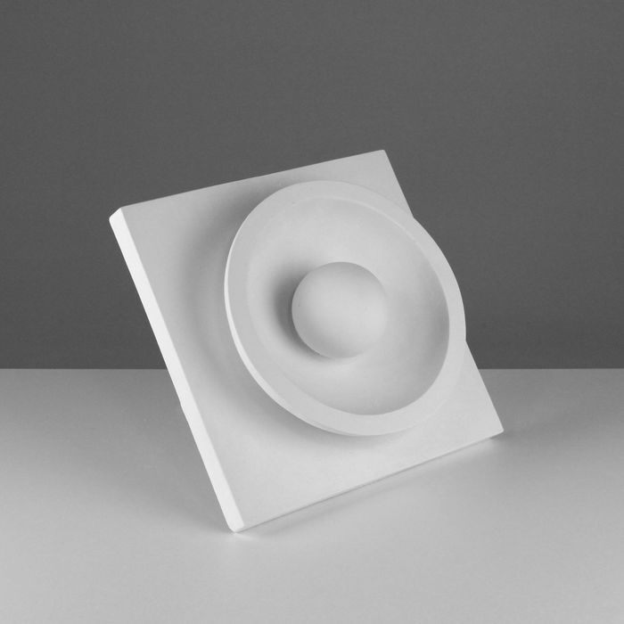 Гипсовая фигура, Орнамент Шар в полусфере, 30.5х30.5х11 см