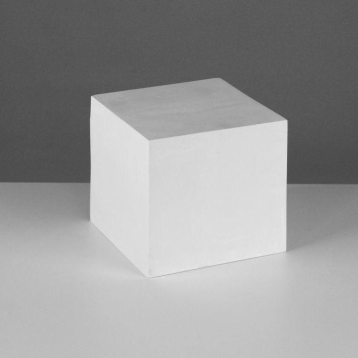 Геометрическая фигура, куб «Мастерская Экорше», 15 см (гипсовая)