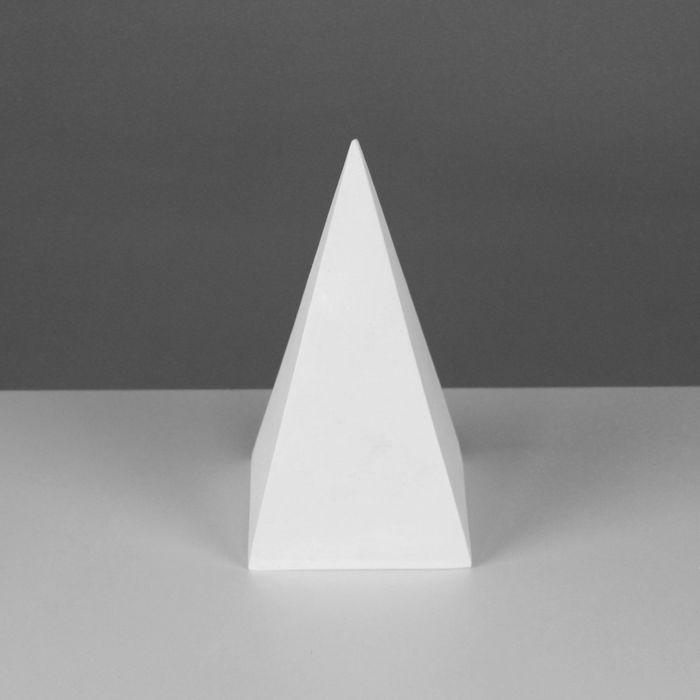 Геометрическая фигура, пирамида 4-гранная «Мастерская Экорше», 20 см (гипсовая)