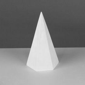 Геометрическая фигура, пирамида 6-гранная «Мастерская Экорше», 20 см (гипсовая) Ош
