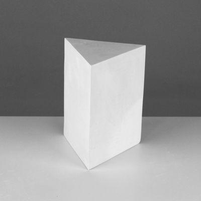 Геометрическая фигура, призма 3-гранная «Мастерская Экорше», 20 см (гипсовая)