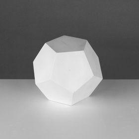 Геометрическая фигура, додекаэдр «Мастерская Экорше», 15 см (гипсовая)