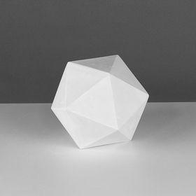 Геометрическая фигура, икосаэдр «Мастерская Экорше», 15 см (гипсовая) Ош
