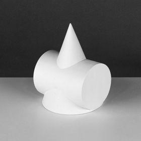 Геометрическая фигура, Сечение Цилиндра в конусе «Мастерская Экорше», 15х15х20 см (гипсовая)