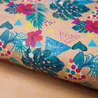 Бумага упаковочная крафтовая «Экзотические цветы», 50 × 70 см