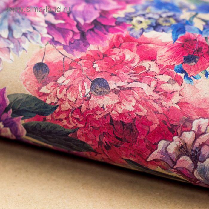 Бумага упаковочная крафт «Летний сад», 50 х 70 см