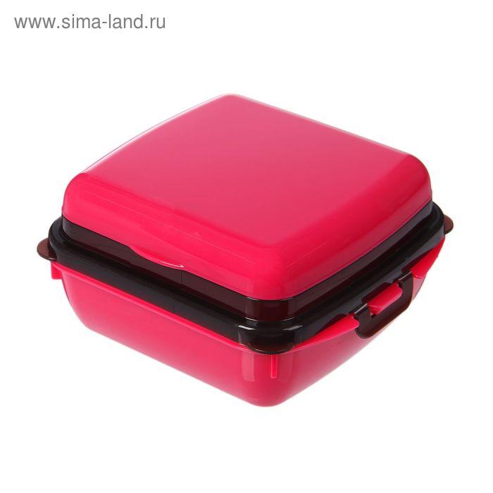 Ланч-бокс 0,35 л, цвет МИКС