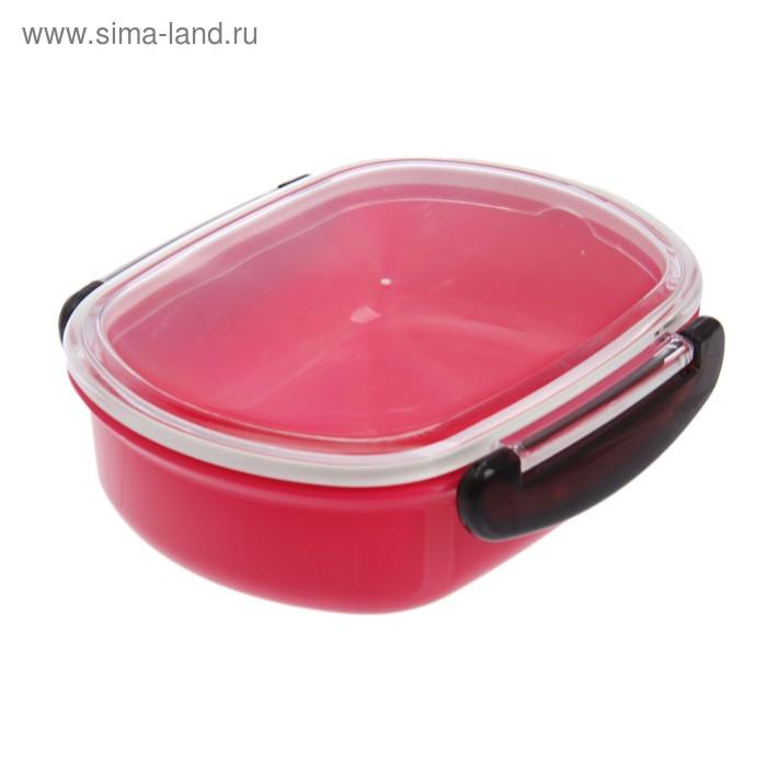 Ланч-бокс 0,48 л, цвет розовый
