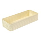 Органайзер для столовых приборов 24х9,5х5 см, цвет ванильный - фото 308017705