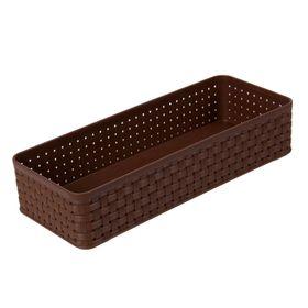 Органайзер для столовых приборов 24х9,5х5 см, цвет коричневый