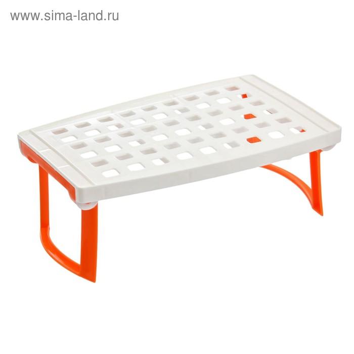Столик для СВЧ, складной 16,6х24,5х24 см, цвет белый