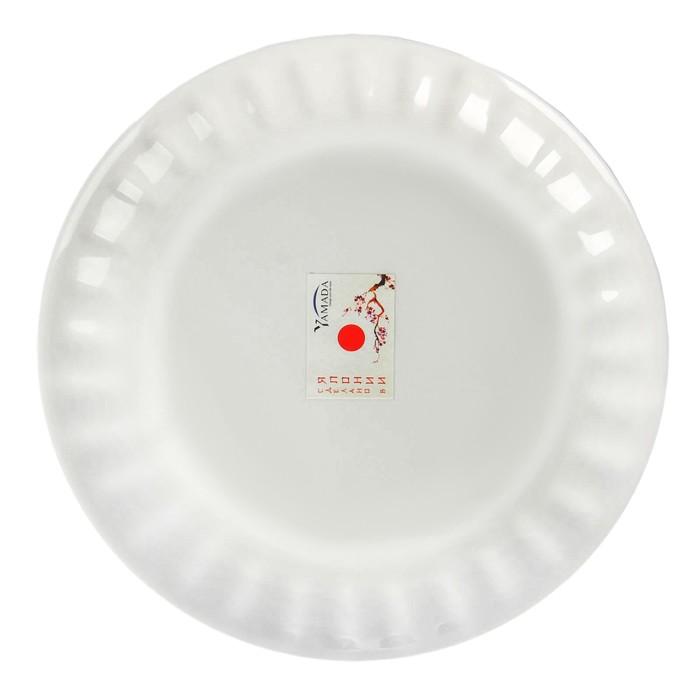 Тарелка для СВЧ 25 см, плоская, цвет белый