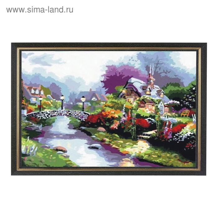 """Картина со стразами """"Пурпурный пейзаж"""""""