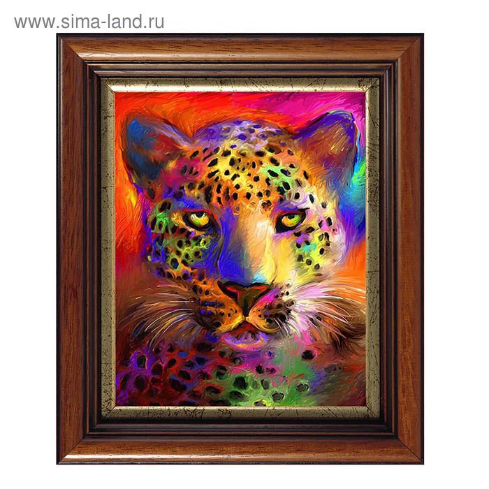 """Картина со стразами """"Цветной гепард"""""""