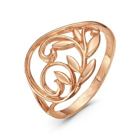 """Кольцо позолота """"Листопад"""", 18,5 размер"""