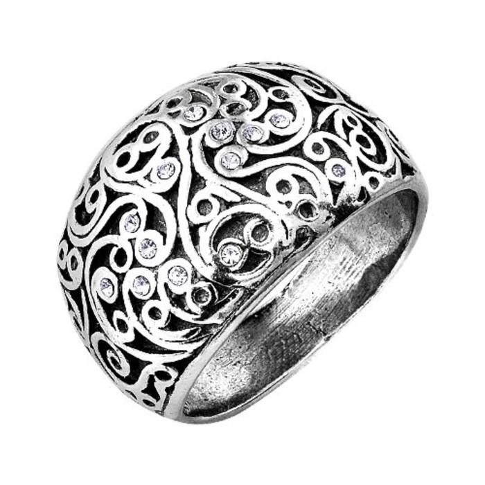 """Кольцо посеребрение """"Ажур"""", 19,5 размер"""