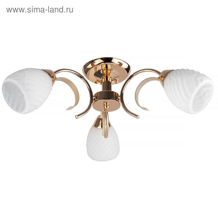 "Люстра ""Ленор"" 3 лампы E14 60Вт золото 53х53х19 см."